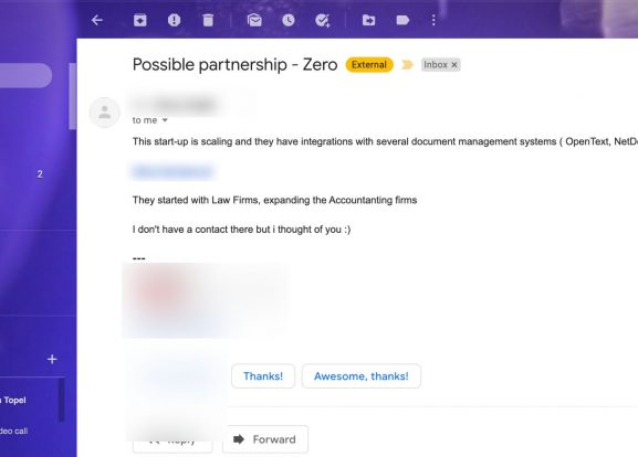 External Gmail Label