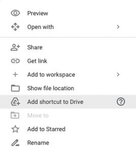 Google Drive Shortcut